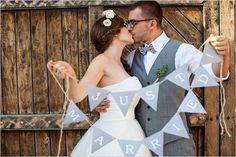 just married bunting sign