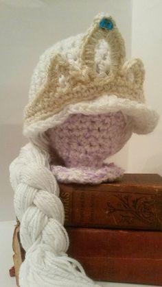 Frozen Queen Elsa Inspired Winter Hat Costume by SarahandJolie, $34.00