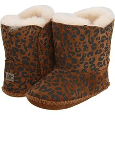 UGG leopard baby booties......if baby Patrick is a girl.... she will need these for sure!