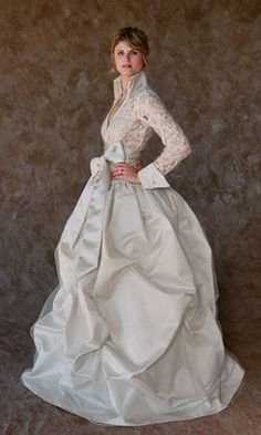 cute for a long sleeve wedding dress