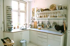 via door sixteen: kitchen shelving