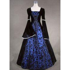 Lady's Renaissance-style gown