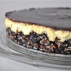 Nanaimo Bar Cheesecake.   Nanaimo Bar + Cheesecake = Awesome!