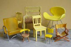 mini yellow chairs