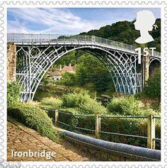 az british, british stmps, news, british landmark, ironbridg telford, stamps, stamp az