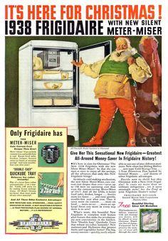 Vintage Christmas Ad ~ Frigidaire ©1938