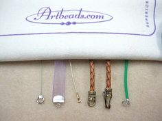 How to Use an End Cap or Crimp End for ribbon, leather, etc. #beading #jewelry #tutorials