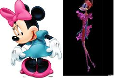 Minnie Mouse Before andAfter @Barneys got its hands on her. Because cartoon mice really need to look good in Lanvin.    Via danceswithfat.wordpress.com