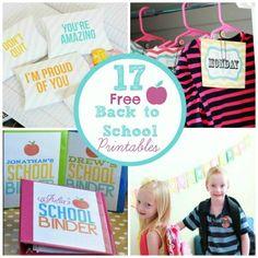 Get Kids Organized: 17 Free Back to School Printables
