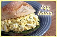 Mayo-free (almost) Egg Salad! Yummy!  I'm going to try it without ANY mayo.. :-)