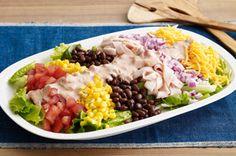 Mexican Cobb Salad - see more great salad recipes at www.kraftsaladcentre.com
