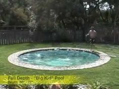 This starts out on ground level as a patio, then descends into the ground with adjustable water levels as a fully-fledged pool!