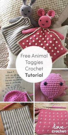 There's something very special about that a toy that gets carried everywhere by a toddler and these little animal taggy blankets fit that bill perfectly! Find out more with this free crochet tutorial on the LoveCrochet blog.