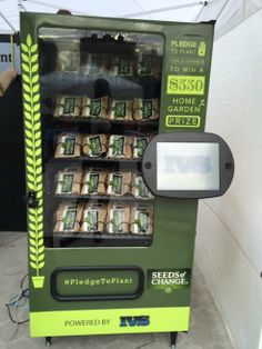 Twitter-enabled vending machine gives out free seeds for tweets : TreeHugger   New York Mar 7-8, Chicago Mar 14-15, LA Mar 16 and 23  ... great deal and great effort ....