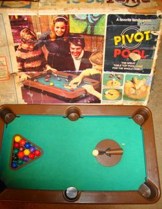 Pivot Pool by Milton Bradley - One of my favorite Christmas gifts.