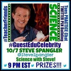 Steve Spangler Twitter Chat tonight at 9pm ET for Teachers.  PRIZES  #TeacherFriends