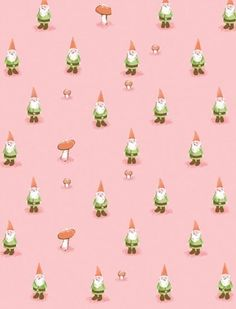 Pink Garden Gnomes