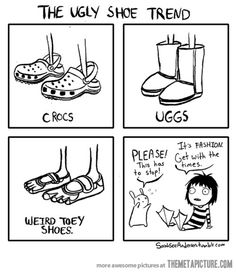 What's next in the ugly shoe trend… shoes, funni stuff, crocs, laugh, giggl, hilari, ugli shoe, humor, shoe trend