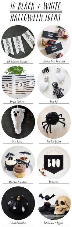 10 Black + White Halloween Ideas