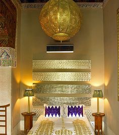 Boutique Hotel RYADDYOR in Marrakech  A country that knows the meaning of luxury craftsmanship. That gold is enticing no?