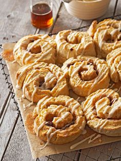 Maple swirl biscuits.