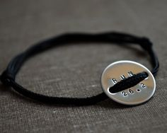Stamped Sport Bracelet  Running  Marathon  by ThoughtBlossoms,