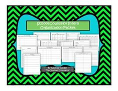 School Counselor Intern Organization Packet- Help interns get organized and started with tracking data