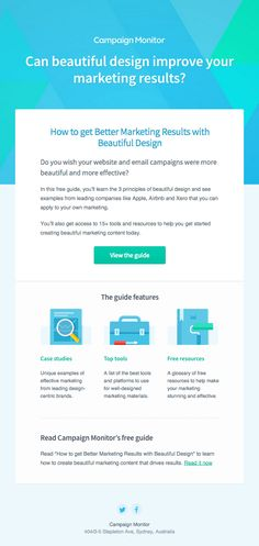 How to get Better Marketing Results with Beautiful Design, by Campaign Monitor (http://campaignmonitor.com)