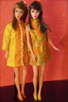 Vintage Barbie - Mod Era Twist n' Turn Barbies - Brunettes