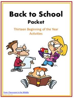 This Back to School Packet contains thirteen activities for the first days of school. They include interactive classroom activities, quiet individual activities, and projects to display in the classroom. $