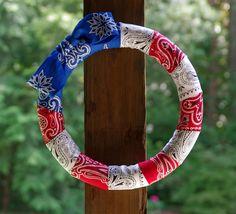 Fourth of July wreath, cute