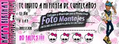 Invitación de Cumpleaños Monster High.