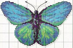 Ponto cruz: borboletas