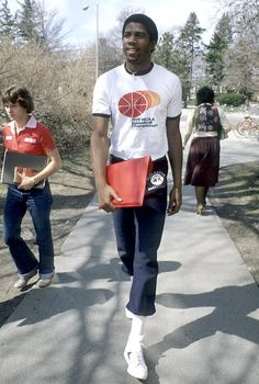 Magic Johnson on campus, 1979