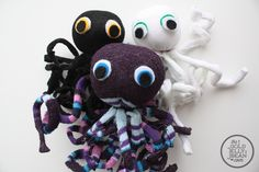 Sock Octopus with bendable curly legs!
