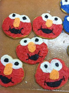 cookies birthday elmo sugar cookies