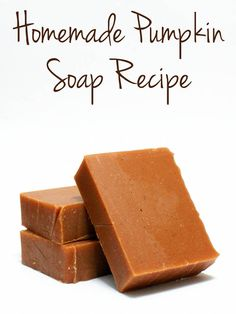Cold Process Homemade Pumpkin Soap Recipe for Fall made using real organic pumpkin!