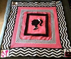 Crochet Designer Barbie Logo Afghan Pattern.  Download the pattern today! pattern today, afghan pattern, crochet pattern