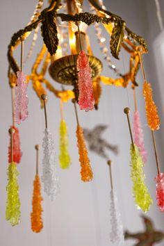 Chandelier via Sugar Sugar Candy {Beaux & Belles blog}