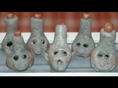Face Jars How to make in polymer clay for miniature dollhouse