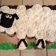 Sheep Cupcake Cake