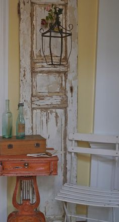 lantern on a door panel