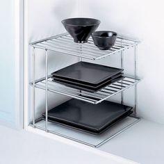 Kitchen Metal Wire Chrome Corner Shelf