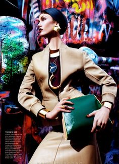 Karlie Kloss by Mario Sorrenti for Vogue US March 2012
