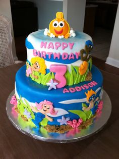 Bubble Guppies cake idea