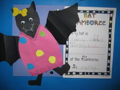 bat jamboree activities | This little one wrote that her bat was singing One Direction ~ cute!