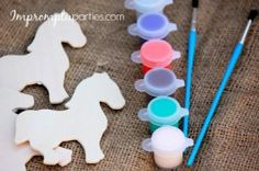 Western Rodeo Party Activity - Make Your Own Black Stallion Magnet (*included in party kit)