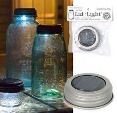 Solar Mason Jar Lid Lights - Box of 4 - Silver Finish