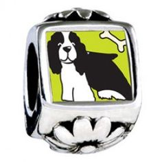 Springer Spaniel Dog European Charms  Fit pandora,trollbeads,chamilia,biagi and any customized bracelet/necklaces. #Jewelry #Fashion #Silver# handcraft #DIY #Accessory