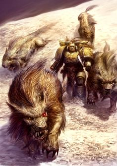 Hard to go wrong with gian wolves on your side...